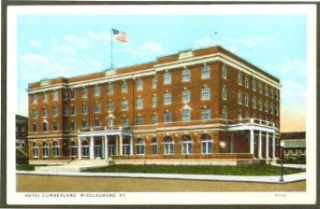 Hotel Cumberland Middlesboro KY postcard 1920s: Entertainment Collectibles