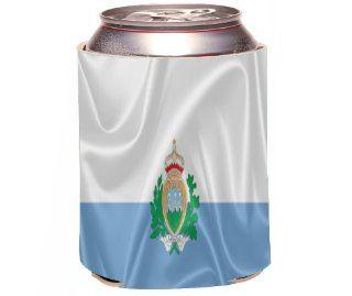 Rikki KnightTM San Marino Flag Design Drinks Cooler Neoprene Koozie Kitchen & Dining