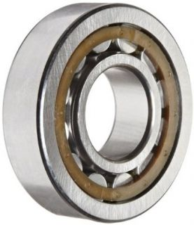 SKF NJ 305 ECP Cylindrical Roller Bearing, Removable Inner Ring, Flanged, High Capacity, Polyamide/Nylon Cage, Metric, 25mm Bore, 62mm OD, 17mm Width, 12000rpm Maximum Rotational Speed, 8210lbf Static Load Capacity, 9040lbf Dynamic Load Capacity Industria