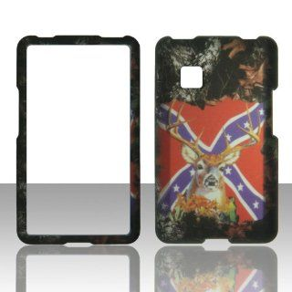 2D Camo Flag Stem Mossy Oak LG 840G Straight Talk prepaid Tracfone Net10 Case Cover Phone Snap on Cover Cases Protector Faceplates: Cell Phones & Accessories