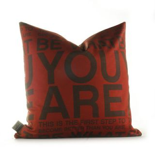 Inhabit Graphic Pillows You Are Synthetic Pillow YRLMCHxxP Size: 18 x 18, C