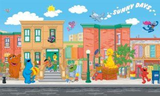 RoomMates JL1214M Sesame Street Full Size Prepasted Wall Mural: Home Improvement