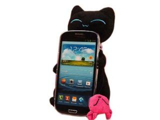 3D Cute Cartoon Tail Cat Stand Case Cover for Samsung Galaxy S3 i9300 Black: Cell Phones & Accessories