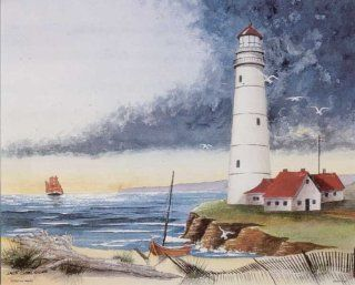 Lighthouse on the Bay 3D Decoupage   Paper Tole Craft Kit   Childrens Paper Craft Kits