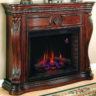 Lexington 55 inch Electric Fireplace   Empire Cherry   33wm881   Gel Fuel Fireplaces