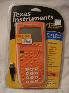 TI 84 Plus Silver Edition Graphing Calculator (Orange)  Electronics