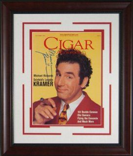 "Michael Richards ""Kramer"" Signed Cigar Aficionado   Memorabilia Entertainment Collectibles"