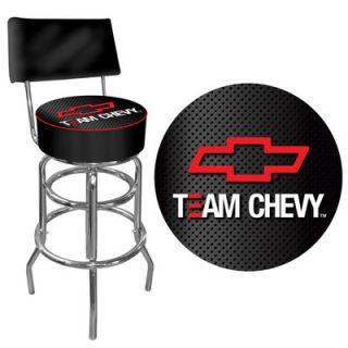 Trademark Global Team Chevy Racing Swivel Bar Stool with Cushion GM1100 TC