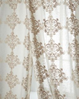 Each 52W x 108L Oasis Embroidered Sheer   Dian Austin Couture Home