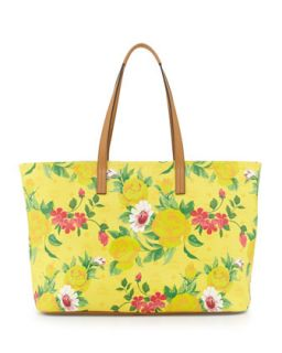 Visetos Flower Tote Bag, Yellow   MCM