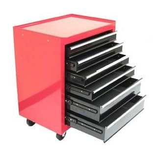 Excel 6 Drawer Red Roller Metal Tool Chest   Excellent Garage Storage Solution with Wheels   Super High Quality Red Steel Toolchest Kitchen & Dining