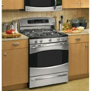 GE Profile: PGB916DEM 30'' Freestanding Gas Range with 5 Sealed Burners, Continuous Grates, 5 cu. ft. Convection Oven, Self Clean and Warming Drawer: Appliances