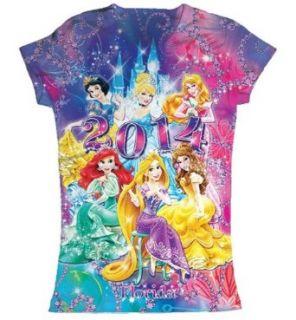 Disney World Florida Girls 2014 Princess Allover Print T Shirt Clothing