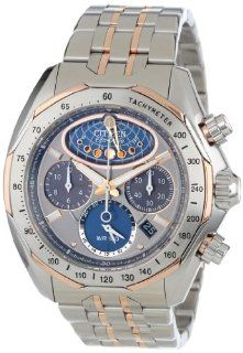 Citizen Men's AV3006 50H The Signature Collection Eco Drive Moon Phase Flyback Chronograph Watch: Watches
