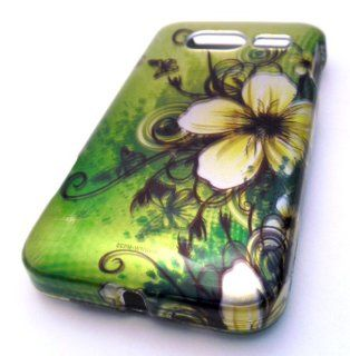 Huawei Activa M920 Green Lotus Flower Design Gloss Hard Case Skin Cover Accessory Metro PCS: Cell Phones & Accessories