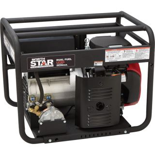 NorthStar Dual Fuel Generator with Electric Start — 13,000 Surge Watts, 12,150 Rated Watts, EPA and CARB Compliant, Model# 16955  Portable Generators
