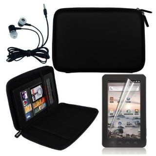 "Premium Black 7"" EVA Hard Shell Cover Case + LCD Screen Protector + Headphone for Coby MID7012 7 Inch Kyros Android Touchscreen Tablet Computers & Accessories"