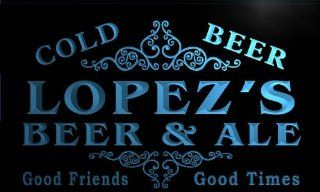 qs1032 b Lopez's Beer & Ale Vintage Design Bar Decor Neon Light Sign