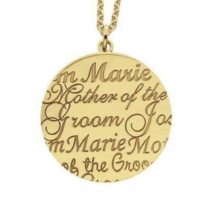 Alison & Ivy Mother of the Groom Name Pendant in Sterling Silver
