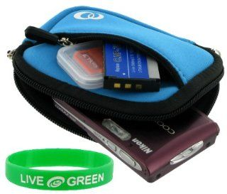 Neoprene Sleeve (Smurf Blue) Case for Canon PowerShot SD960IS Digital Camera Light Blue : Camera & Photo