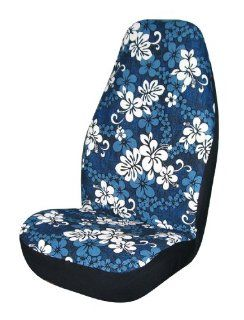 Allison 67 0346BLU Blue Hawaiian Print Universal Bucket Seat Cover   Pack of 2: Automotive