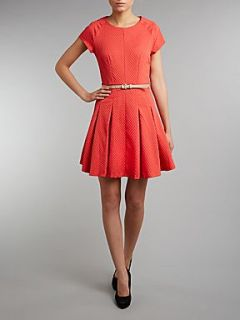 Cutie Waffle short sleeve full dress Coral