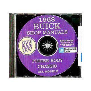 1968 BUICK REPAIR SHOP & SERVICE MANUAL & FISHER BODY MANUAL CD INCLUDES Electra 225, Electra 225 Custom, Riviera, Special Deluxe, G.S. 350, Skylark, Skylark Custom, Sportwagon, Sportwagon Wood Grain, G.S. 400, LeSabre, LeSabre Custom. 68 GM Book