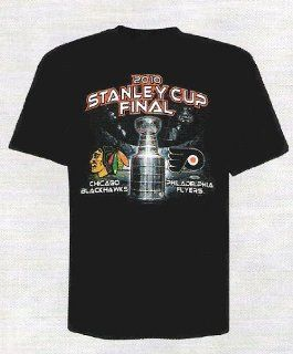 Majestic Chicago Blackhawks vs. Philadelphia Flyers Black 2010 Stanley Cup Finals Square Off Match Up T shirt (Medium) : Sports & Outdoors