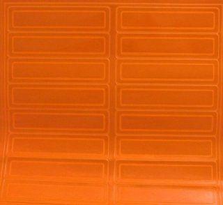 HARD HAT EMBLEMS REFLECTIVE RED/ORANGE STICKER   Hardhat Accessories