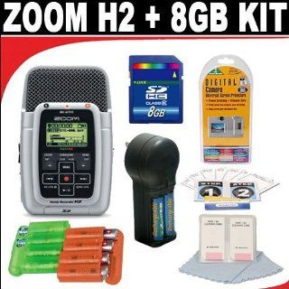 Zoom H2 Handy 2 Track Recorder + 8GB SD Card +Deluxe DB ROTH Accessory Kit Electronics