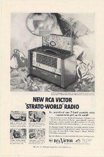 1953 RCA Victor Strato World 7 Band Portable Radio Pick Up the World Print Ad (Memorabilia) (55655)