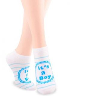 Soxnet Its a Boy Baby Shower Cotton No Show Socks for Women at  Women�s Clothing store