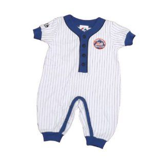 New York Mets Infant Boys Coverall Size 6 9Mos By Majestic  Infant And Toddler Sports Fan Apparel  Sports & Outdoors