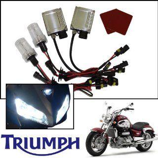 TGP H4 Specialty Purple AC HID Xenon Kit (Low Beam Only) 2004 2005 Triumph Daytona 600 650 Automotive