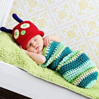 KeeBaby™ Worm Crochet Baby Beanie Hat Bunting Photography Prop Costume  Baby