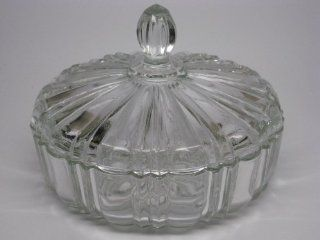 """Vintage Clear Glass """"Old Cafe"""" Pattern CANDY DISH w/ Lid  Other Products"""