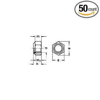 (50pcs) Metric DIN 985 M10X1.25 Nylon Insert Lock Nut Class 10 Steel Ships Free in USA Science Lab Inline Filters Industrial & Scientific