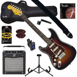 Fender Squier Classic Vibe Left Handed Strat '60s Sunburst BUNDLE w/ Amplifier, Gig Bag, Tuner & Strap Musical Instruments