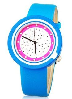 Kids Watches Mitina Dragon Fruit Design Water Resistant Quartz Movement Analog Watch with Faux Leather Strap   Blue Color: Watches
