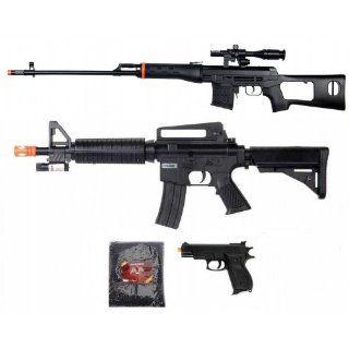 Dragunov Sniper Rifle Scope Flashlight M16 Spring Airsoft and Pistol Gun Lot : Sports & Outdoors