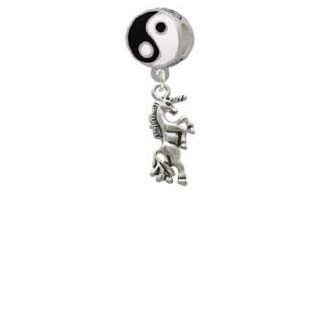 Unicorn Yin Yang Charm Bead Dangle: Jewelry