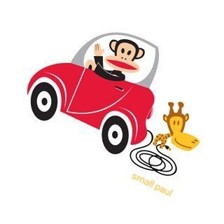 Paul Frank Julius Tiny Car Wall Sticker Decal Wallpaper Room Decor
