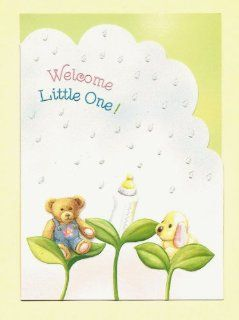 Carol Wilson Welcome Little One Baby Shower Greeting Card, Glitter: Health & Personal Care