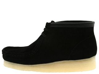 Clarks Wallabee Boot Dark Black Suede