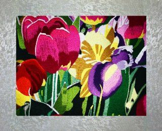 "Shop PEA Designs, Abstract Garden Wall D�cor, Chinese Su Embroidery Pattern, Timeless Wall Hanging Artwork, Elegant Needlepoint Tapestry, Traditional Flower Wall Art for Room Decoration, Unique Housewarming Gift Idea, 27 9/16"" x 19 31/64"" at the"