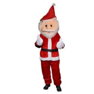 Forum Novelties Men's Plush Santa Claus Mascot Costume, Red, One Size Clothing