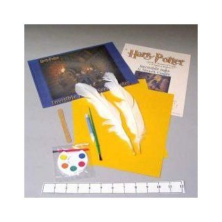 HARRY POTTER and the CHAMBER of SECRETS HOGWARTS SPELLS and POTIONS INVISIBLE INK, GOLDENROD PAPER, SECRET CODE WRITING and FEATHER QUILL PEN MAKING SCIENCE & CRAFTS ACTIVITY KIT: Toys & Games