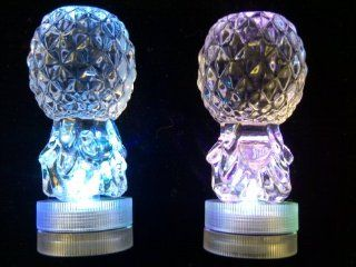 LED Decortive Lights Designers Small Crystal Domes with Color Changing LED Lights. Also Candle Holder, Turn Dome Upside Down, Remove LED & Insert Taper Candle. Candle Not Included. Beautiful Table Scatters, Vase Fillers, Table Decorations, Weddings Li