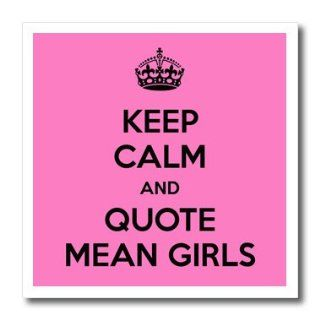 ht_163859_2 EvaDane   Funny Quotes   Keep calm and quote mean girls. Pink.   Iron on Heat Transfers   6x6 Iron on Heat Transfer for White Material Patio, Lawn & Garden