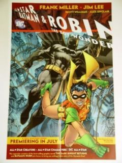 All Star Batman & Robin the Boy Wonder DC Comics Folded Poster Approximately 22 x 34 inches Frank Miller Jim Lee Scott Williams Alex Sinclair Entertainment Collectibles